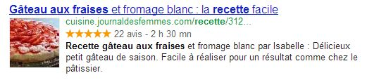 exemple rich snippets