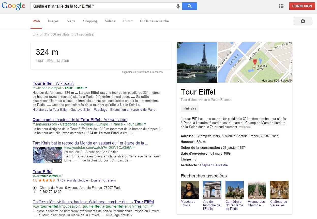 Google Tour Eiffel