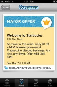 Offre Mayor Foursquare