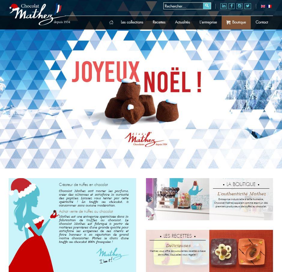 Kelcible met le site de Mathze aux couleurs de Noëls