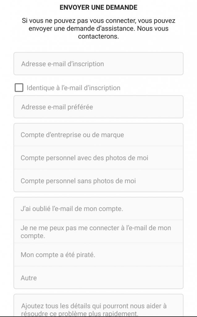 Récupérer compte instagram piratage