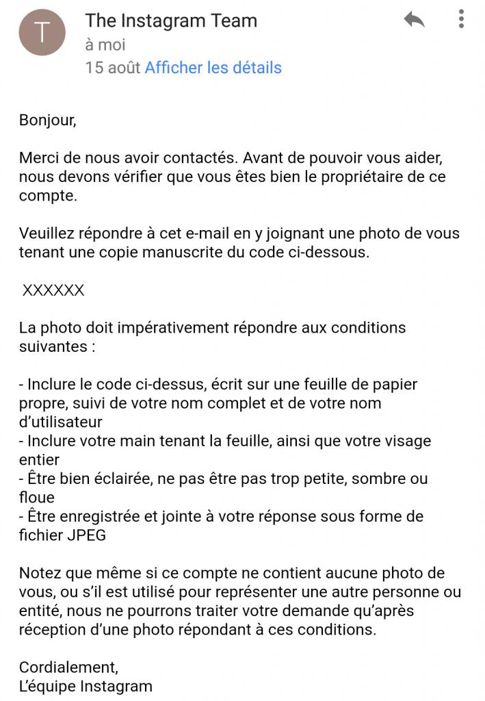 piratage compte instagram